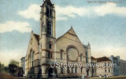 Epworth Church  - Norfolk, Virginia VA Postcard
