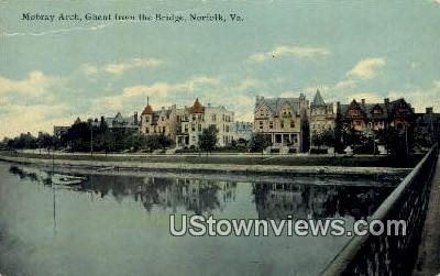 Mobray Arch Ghent - Norfolk, Virginia VA Postcard