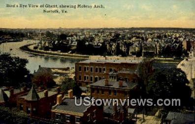 Ghent Showing Mobray Arch - Norfolk, Virginia VA Postcard