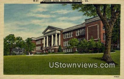 Junior High School  - Bristol, Virginia VA Postcard