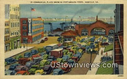 Portsmouth Ferry  - Norfolk, Virginia VA Postcard