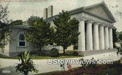 Robert E Lee Mansion  - Arlington, Virginia VA Postcard