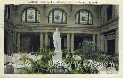 Japanese Palm Garden Jefferson Hotel  - Richmond, Virginia VA Postcard