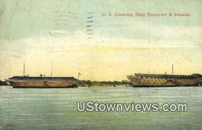 Us Receiving Ships  - Richmond, Virginia VA Postcard