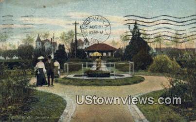 Entrance To Lafayette Park  - Norfolk, Virginia VA Postcard