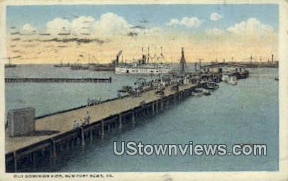 Old Dominion Pier  - Newport News, Virginia VA Postcard