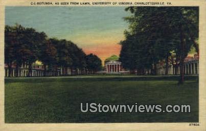University Of Virginia  - Charlottesville Postcard
