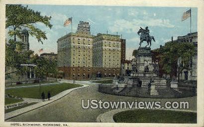 Hotel Richmond  - Virginia VA Postcard