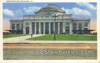 Union Station  - Richmond, Virginia VA Postcard