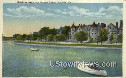 Mowbray Arch And Hedges Ghent  - Norfolk, Virginia VA Postcard