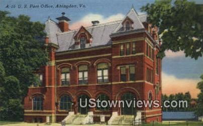US Post Office  - Abingdon, Virginia VA Postcard