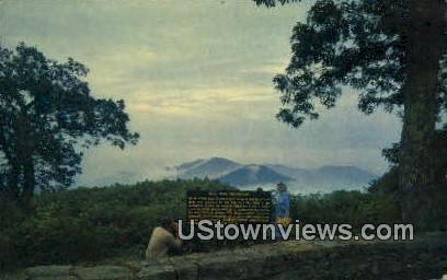 Couple At Old Rag Mountain Overlook  - Shenandoah National Park, Virginia VA Postcard