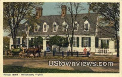 Raleigh Tavern Parlour  - Williamsburg, Virginia VA Postcard