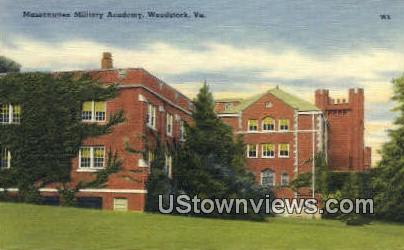 Massanutten Military Academy  - Woodstock, Virginia VA Postcard
