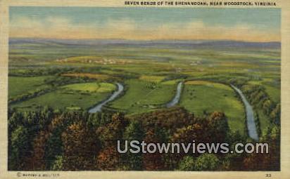 Seven Bends Of The Shenandoah  - Woodstock, Virginia VA Postcard