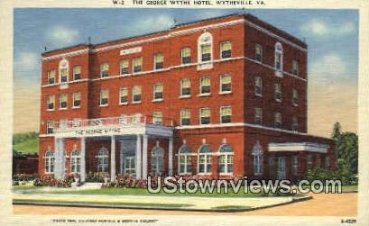 The George Wythe Hotel  - Wytheville, Virginia VA Postcard