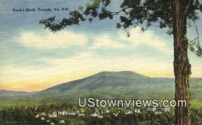 Peaks Knob  - Pulaski, Virginia VA Postcard