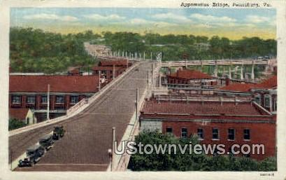 Appomattox Bridge  - Petersburg, Virginia VA Postcard