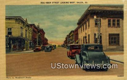 Main Street  - Salem, Virginia VA Postcard