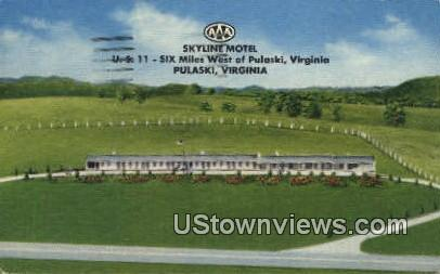 Skyline Motel  - Pulaski, Virginia VA Postcard