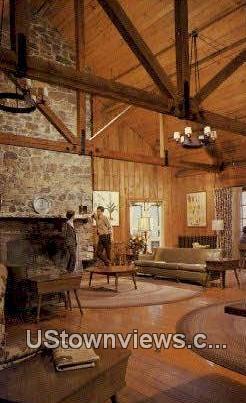 Lobby Big Meadows Lodge  - Shenandoah National Park, Virginia VA Postcard