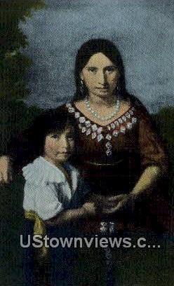 Pocahontas & Her Son Rolfe  - Jamestown, Virginia VA Postcard
