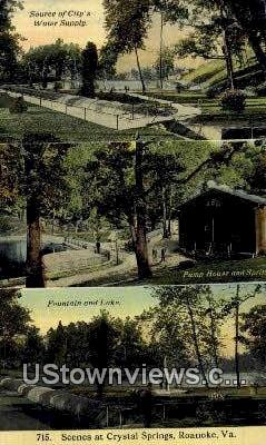 Crystal Springs  - Roanoke, Virginia VA Postcard