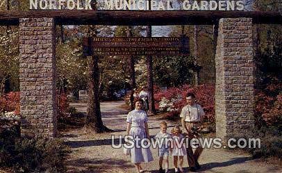 Entrance To Azalea Gardens  - Norfolk, Virginia VA Postcard