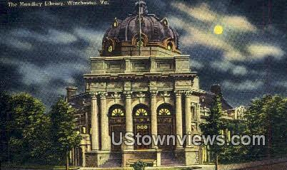 The Handley Library  - Winchester, Virginia VA Postcard