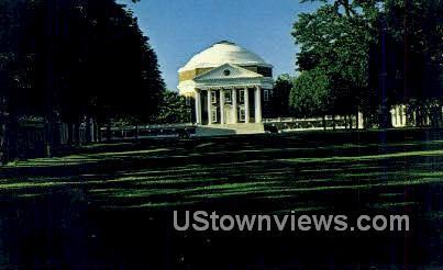 Rotunda Jeffersons Academical Village - Charlottesville, Virginia VA Postcard