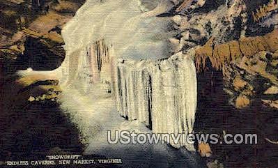 Snowdrift Endless Caverns  - New Market, Virginia VA Postcard