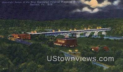 Southwest Virginia Memorial Bridge  - Radford Postcard