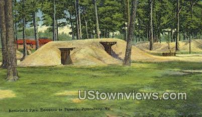 Battlefield Park Entrance Tunnels  - Petersburg, Virginia VA Postcard