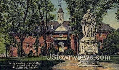 Wren Bld. College of William & Mary  - Williamsburg, Virginia VA Postcard