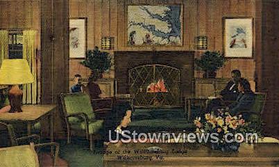 Lounge Of The Williamsburg Lodge  - Virginia VA Postcard
