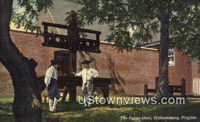 The Public Gaol  - Williamsburg, Virginia VA Postcard