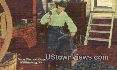 Deane Shop And Forge  - Williamsburg, Virginia VA Postcard