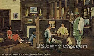 Interior Of Chownings Tavern  - Williamsburg, Virginia VA Postcard