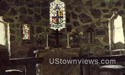 Chancel In Shelter Chapel Shrine Mont  - Orkney Springs, Virginia VA Postcard