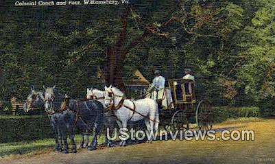 Colonial Coach And Four - Williamsburg, Virginia VA Postcard