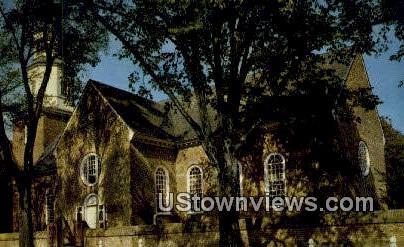 Bruton Church  - Williamsburg, Virginia VA Postcard
