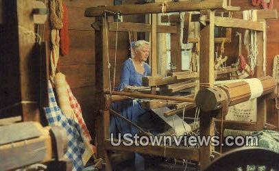 Spinning And Weaving Exhibit  - Williamsburg, Virginia VA Postcard