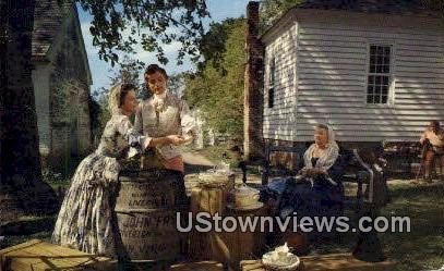 The Fry Family At Riverton  - Williamsburg, Virginia VA Postcard