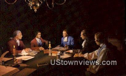 Virginia Patriots In Secret Session  - Williamsburg Postcard