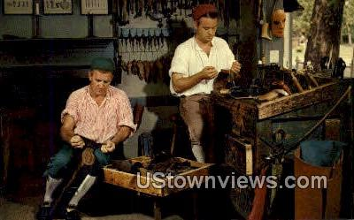 The Boot And Shoemakers Shop  - Williamsburg, Virginia VA Postcard