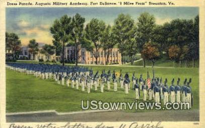 Dress Parade Augusta Military Academy  - Fort Defiance, Virginia VA Postcard