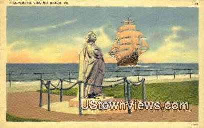Figurehead - Virginia Beach Postcards, Virginia VA Postcard