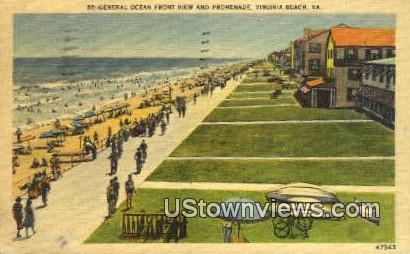 General Ocean View And Promenade  - Virginia Beach Postcards, Virginia VA Postcard