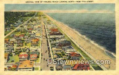General View Of Beach - Virginia Beach Postcards, Virginia VA Postcard