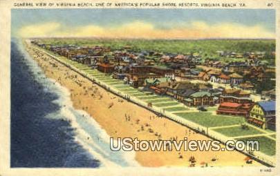 Beach And Popular Resorts  - Virginia Beach Postcards, Virginia VA Postcard